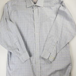 Brooks Brothers 346 Light Blue Plaid Dress Shirt